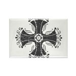 Elegant Iron Cross Rectangle Magnet