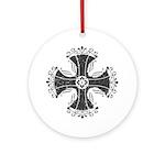 Elegant Iron Cross Ornament (Round)