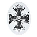 Elegant Iron Cross Ornament (Oval)