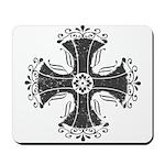 Elegant Iron Cross Mousepad