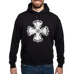 Elegant Iron Cross Hoodie (dark)