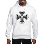 Elegant Iron Cross Hooded Sweatshirt