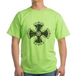 Elegant Iron Cross Green T-Shirt