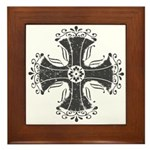 Elegant Iron Cross Framed Tile