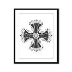 Elegant Iron Cross Framed Panel Print