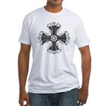 Elegant Iron Cross Fitted T-Shirt