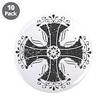 "Elegant Iron Cross 3.5"" Button (10 pack)"