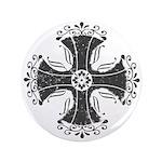 "Elegant Iron Cross 3.5"" Button"