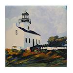 Lighthouse by Riccoboni Tile Coaster