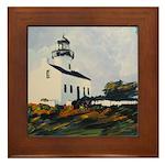 Lighthouse by Riccoboni Framed Tile