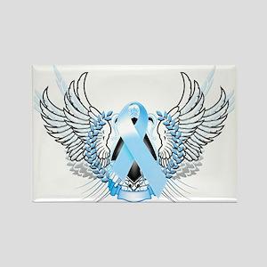 Awareness Tribal Light Blue Rectangle Magnet