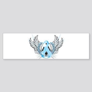 Awareness Tribal Light Blue Sticker (Bumper)