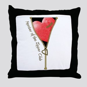 Zipper Design 2 Throw Pillow
