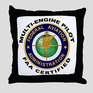 FAA Certified Multi-Engine Pilot Throw Pillow