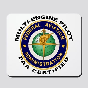 FAA Certified Multi-Engine Pilot Mousepad