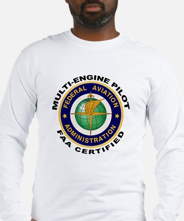 FAA Certified Multi-Engine Pilot Long Sleeve T-Shi