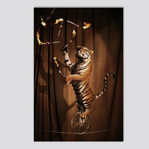 Juggling Tiger Postcards (Package of 8)