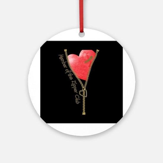 Zipper Design 2 Ornament (Round)