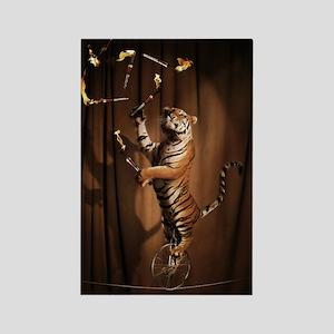 Juggling Tiger Rectangle Magnet