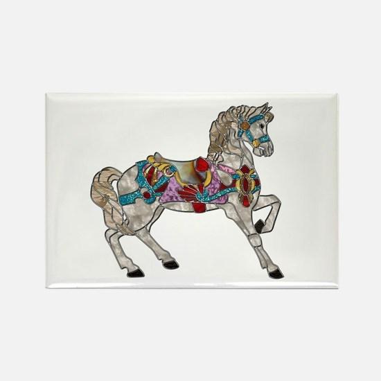 Carousel Horse Rectangle Magnet