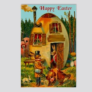 Easter Bunny's Egg House Postcards (Package of 8)