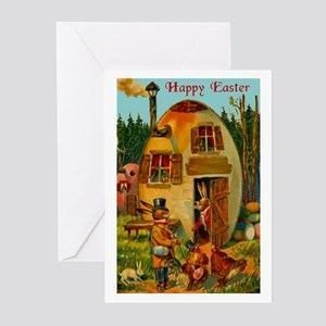 Easter Bunny's Egg House Greeting Cards (Pk of 20)