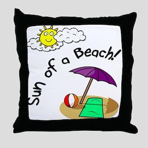 Sun of a Beach Throw Pillow