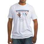 Happy 4th of July Fitted T-Shirt
