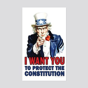 to Protect the Constitution Sticker (Rectangle)