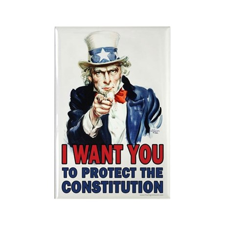 to Protect the Constitution Rectangle Magnet