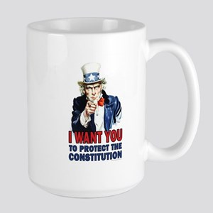 to Protect the Constitution Large Mug