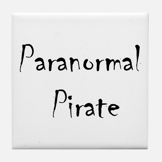 Ghost Hunting Paranormal Pirate Tile Coaster
