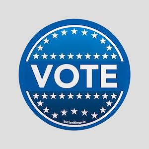 """Vote Blue 3.5"""" Button"""