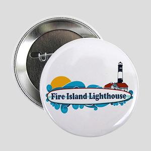 """Fire Island Lighthouse 2.25"""" Button"""
