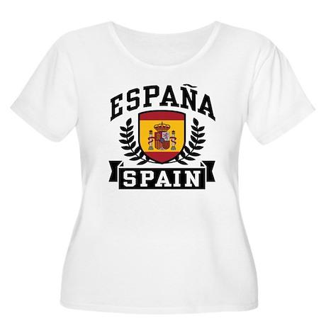 Espana Spain Women's Plus Size Scoop Neck T-Shirt