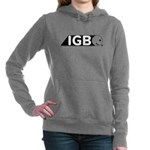 Womens Dark Grey Hooded Sweatshirt