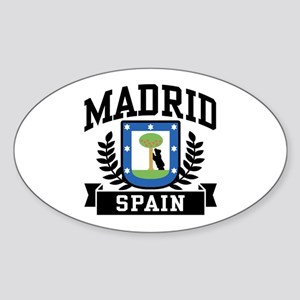Madrid Spain Sticker (Oval)