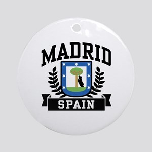Madrid Spain Ornament (Round)
