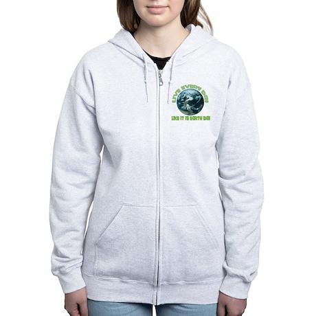 EARTH DAY Women's Zip Hoodie