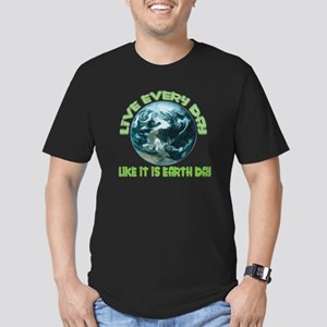 EARTH DAY Men's Fitted T-Shirt (dark)