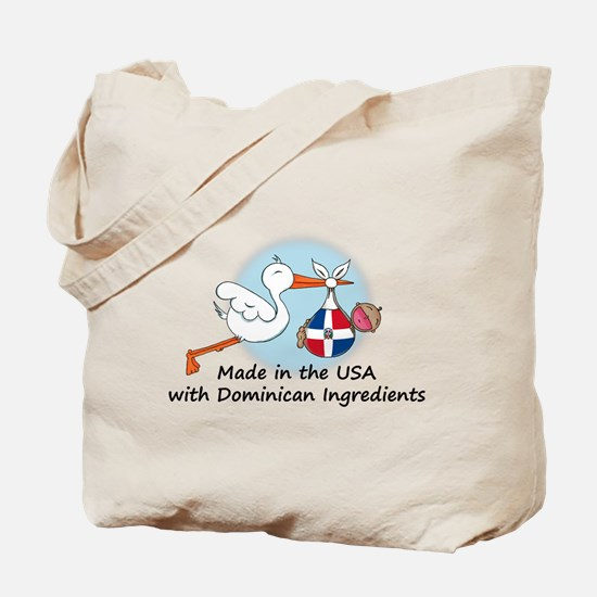 Stork Baby Dominican Rep. USA Tote Bag
