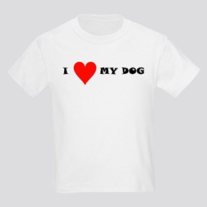 I Love my Dog Kids Light T-Shirt