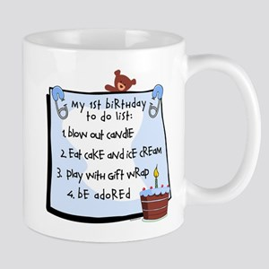 1st Birthday To Do's Blue 11 oz Ceramic Mug