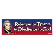 Rebellion to Tyrants Sticker (Bumper)