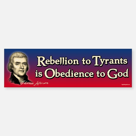 Rebellion to Tyrants Sticker (Bumper)