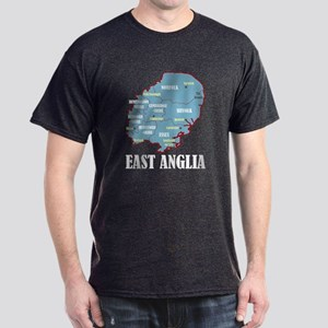 East Anglia Map Dark T-Shirt