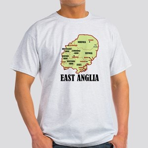 East Anglia Map Light T-Shirt