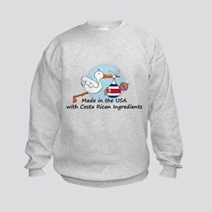 Stork Baby Costa Rica USA Kids Sweatshirt