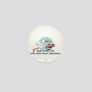 Stork Baby Costa Rica USA Mini Button