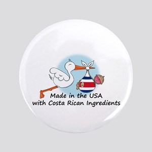 "Stork Baby Costa Rica USA 3.5"" Button"